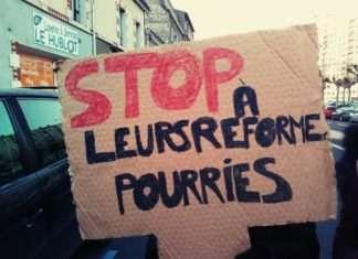 mobilisation E3C réforme pancarte