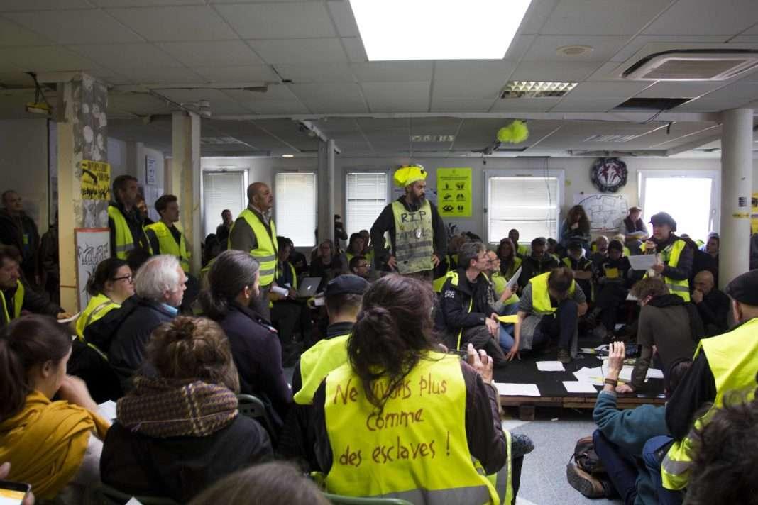 L'Assemblée des Assemblées des Gilets Jaunes à Saint Nazaire. Photo Violette Voldoire pour Radio Parleur.