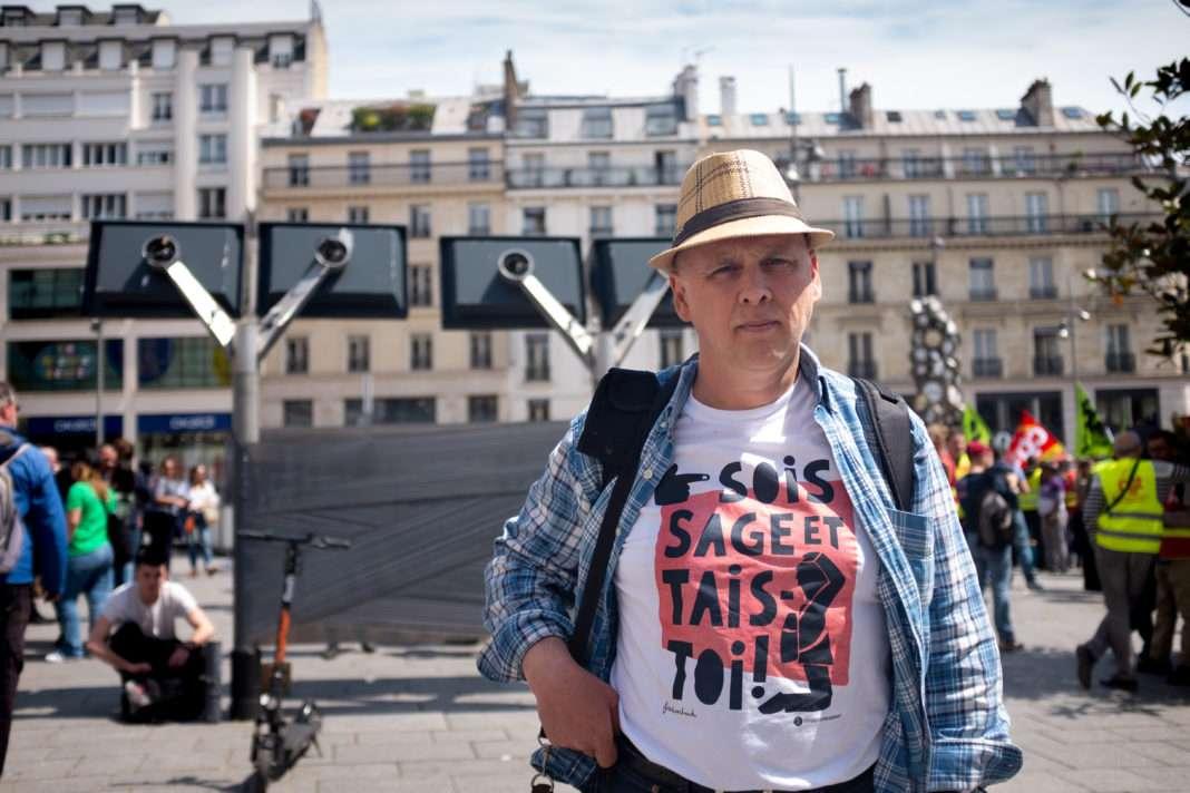 Portrait d'Bric Bezou syndicaliste sud rail menacé de l'icenciement
