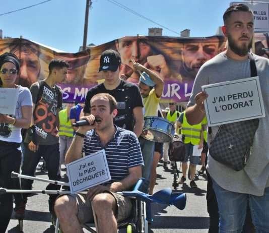 A la marche des mutilés, le 2 juin à Paris. Photo Pierre-Olivier Chaput