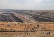 Envahissement de la mine de charbon de Garzweiler par Ende Gelände. Photo Pierre-Olivier Chaput