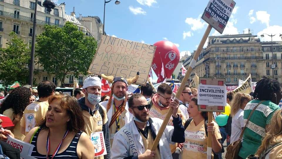 Manifestation des urgences en grève