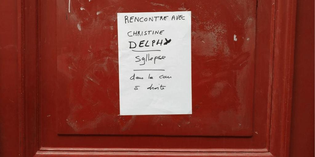 Conférence Christine Delphy feminisme exploitation domestique