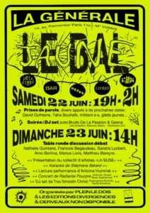 Affiche de la soirée Le Bal Jaune organisée à Paris, à la Générale Nord-Est , le 23 Juin 2019.