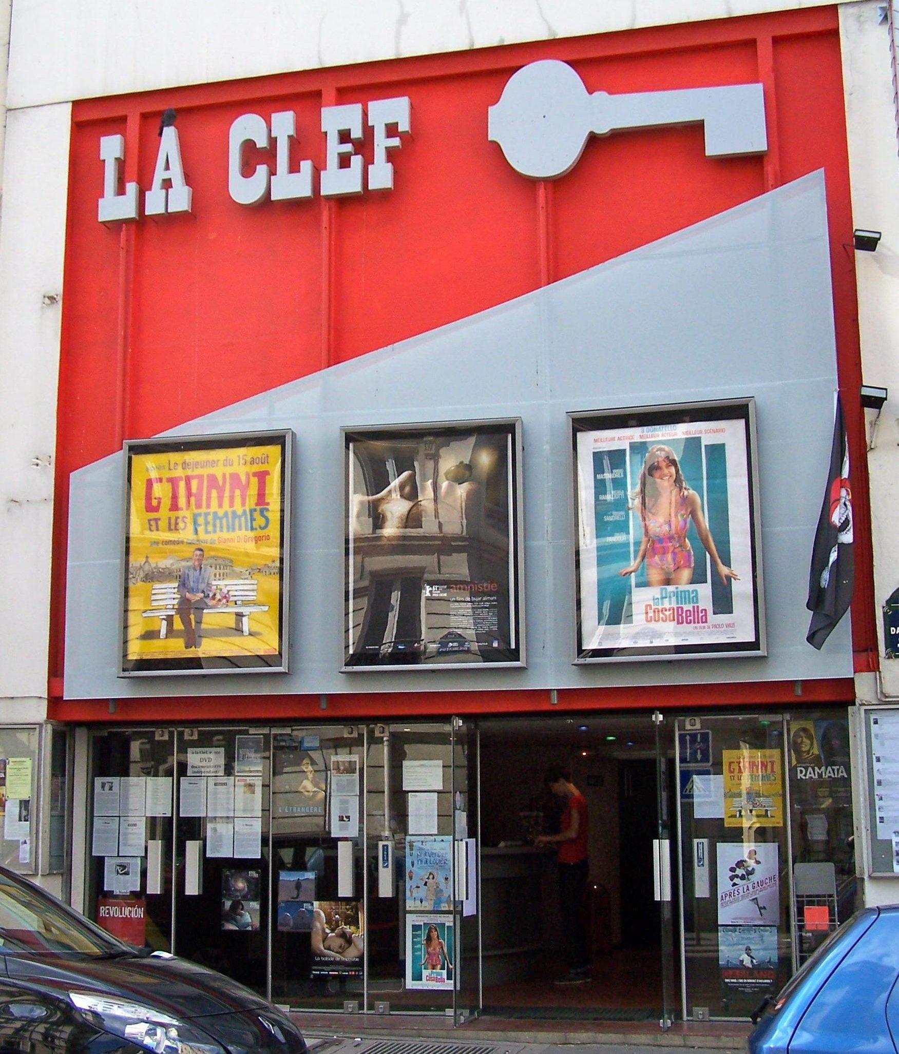 La facade du cinéma La Clef dans le Vème arrondissement de Paris. Photographie : Créative Commons.