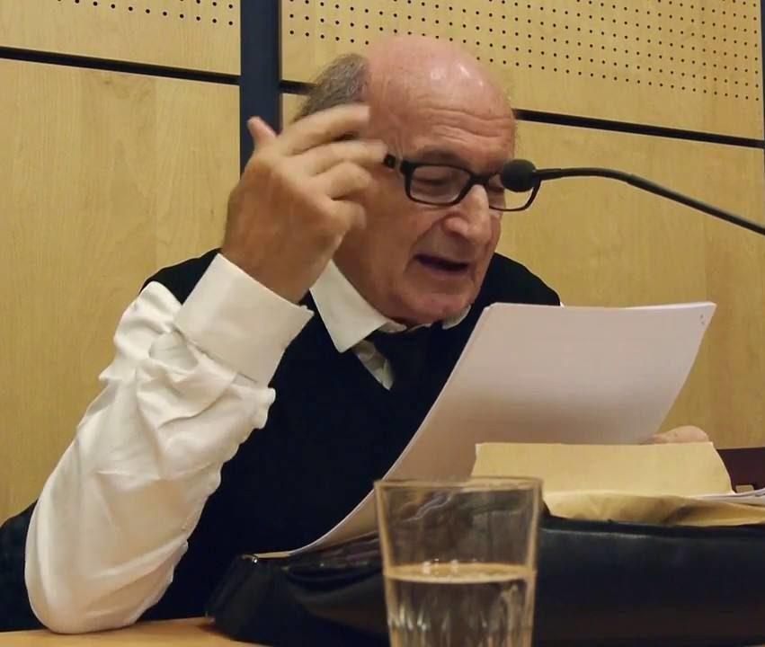 L'historien Jean Paul Scot lors d'une conférence le 27 octobre 2018. Photographie : extrait vidéo Sylvain Foissac