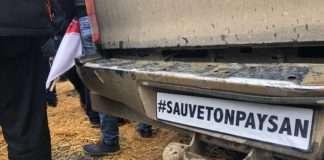 Mobilisation des agriculteurs et agricultrices à l'appel des syndicats FNSEA et Jeunes agriculteurs, le mercredi 27 novembre 2019 à Paris, sur les Champs-Elysées.