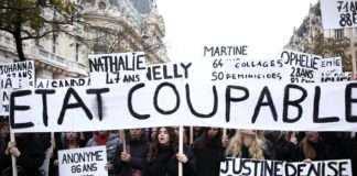 """À la marche """"Nous Toutes"""" contre les violences faites aux femmes, à Paris, le samedi 23 novembre 2019. Photographie : Pierre-Olivier Chaput pour Radio Parleur."""