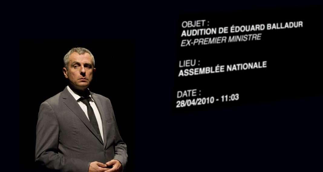le comédien Nicolas Lambert dans un des spectacles de sa trilogie