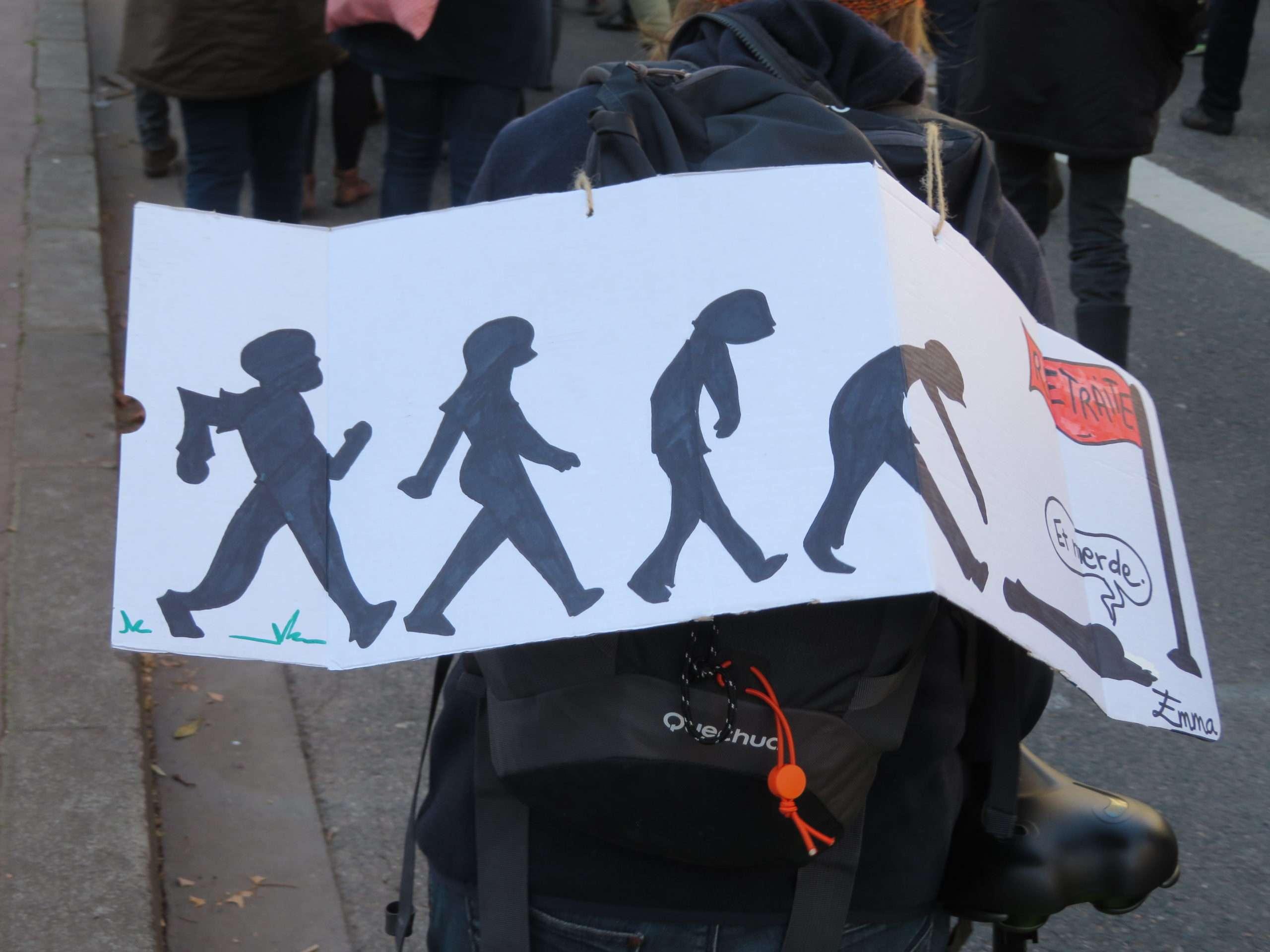 Le mouvement tente de multiplier les formes d'actions pour continuer à mobiliser dans les prochains jours. Photo : Tim Buisson