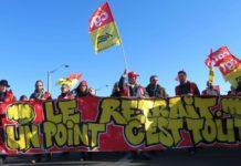 Manifestation contre la réforme des retraites le 16 janvier 2020 à Lyon. Photographie : Tim Buisson pour Radio Parleur