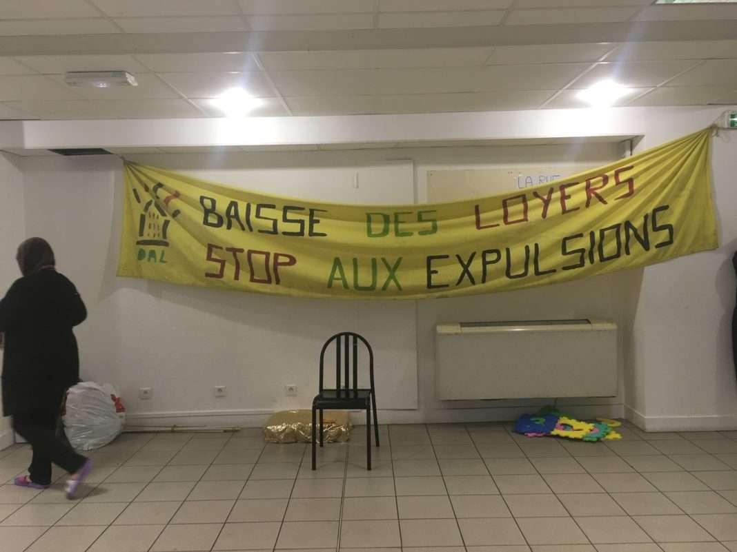 commissariat occupé DAL Paris
