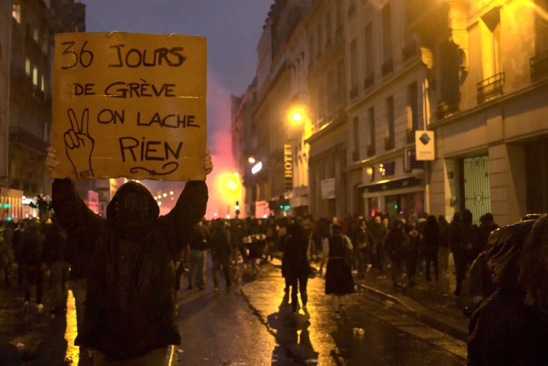Manifestation contre la réforme des retraites le 9 janvier à Paris