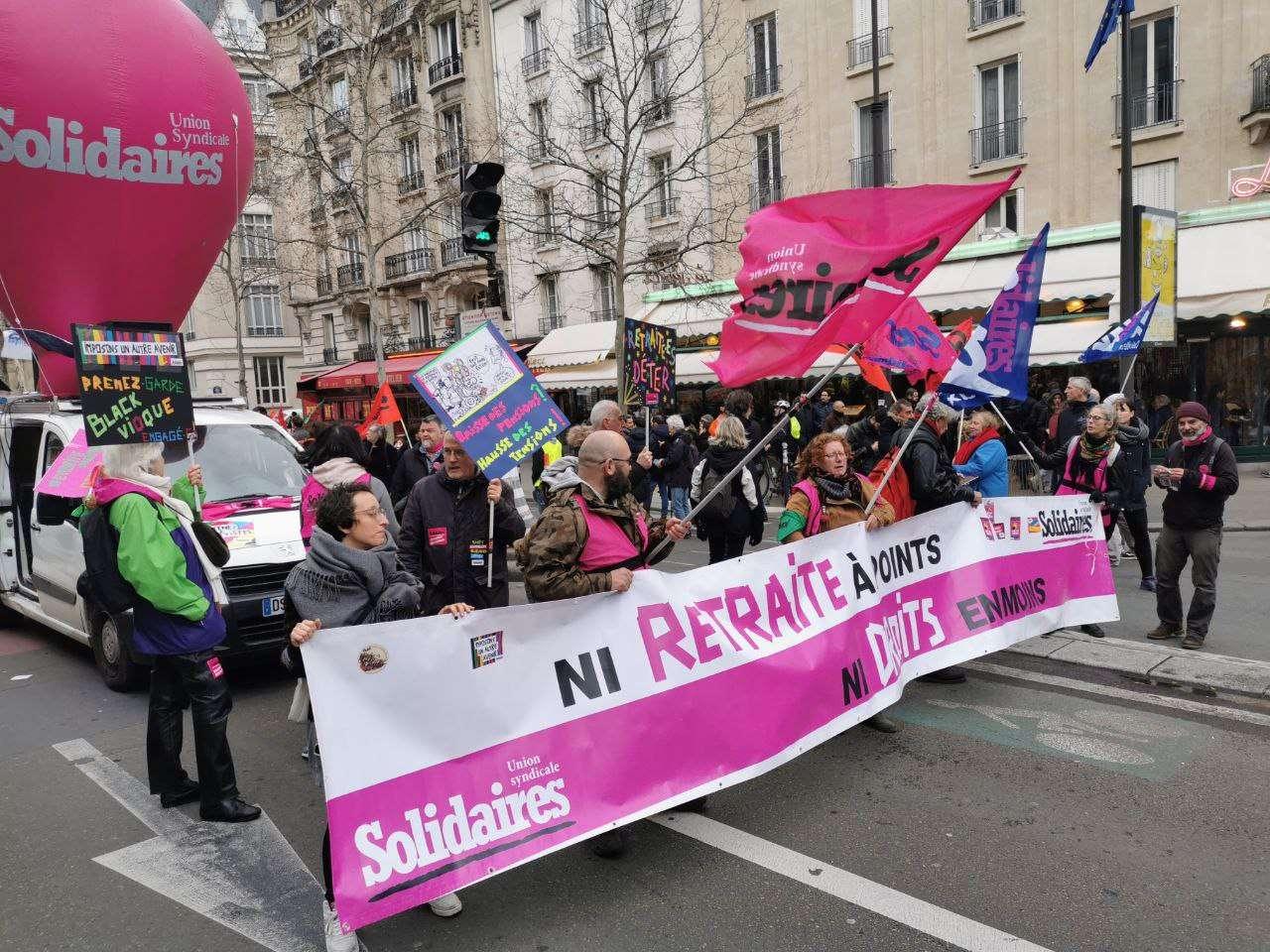 retraites manifestations 20 février
