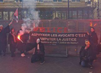 Retraites grève avocats