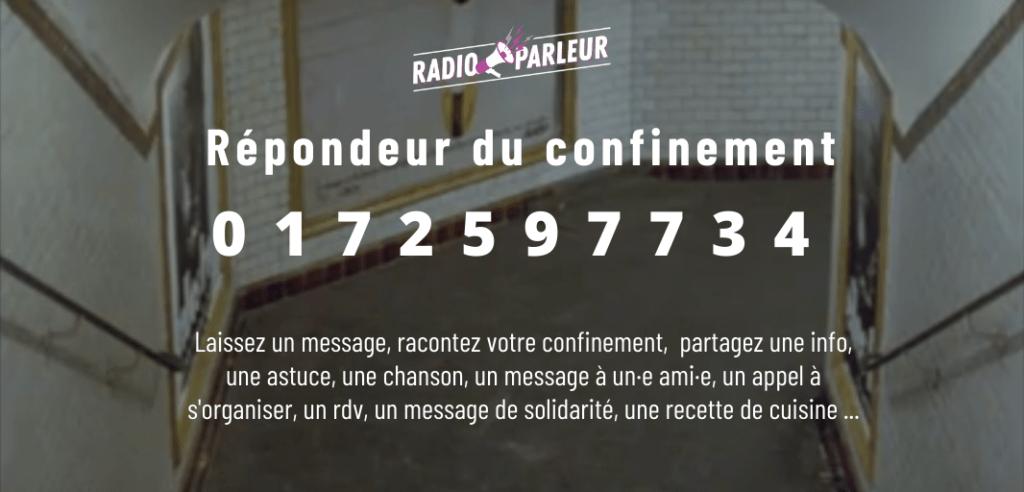 Radio Parleur répondeur confinement
