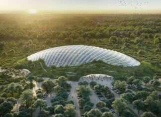 Vue 3D de la future serre géante Tropicalia. Son ouverture est prévue pour 2022. Photographie : Tropicalia