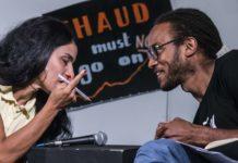 Ecologie populaire Fatima Ouassak et Malcolm Ferdinand Conférence La Base Alternatiba Collectif Adama Paris 2020 @Martin Lelievre pour Radio Parleur_2