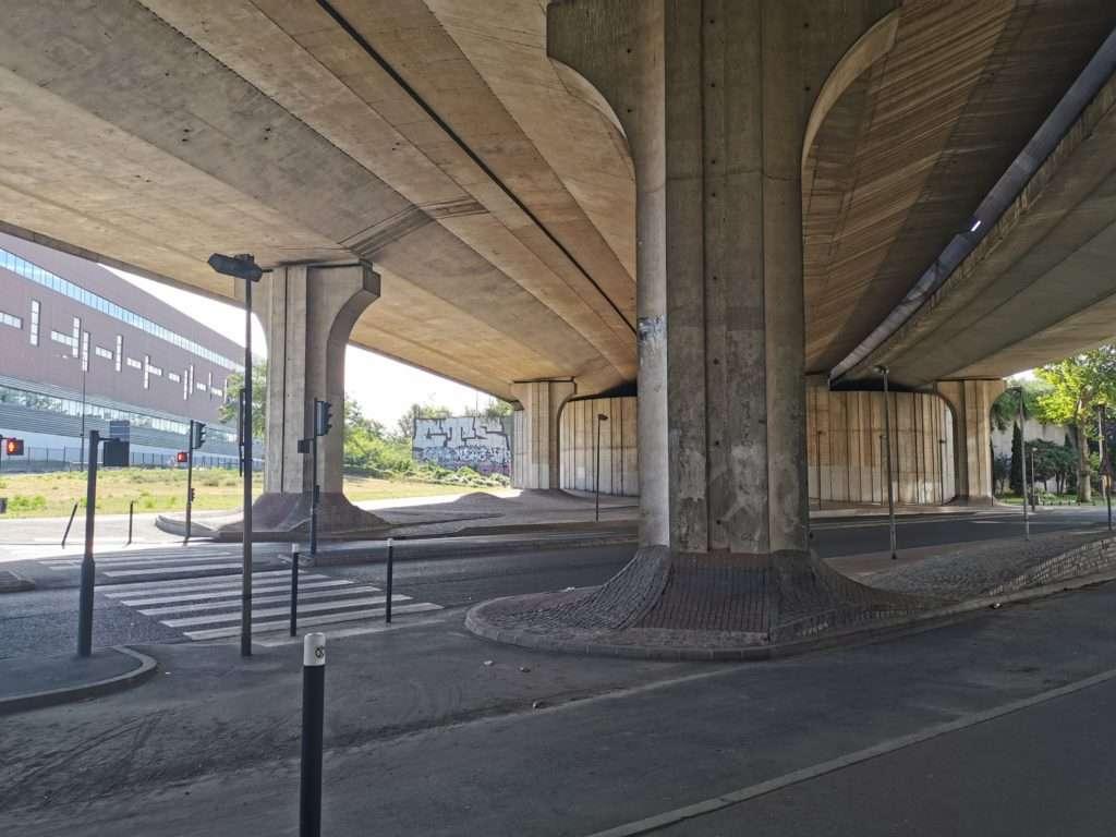 Autroute A86 à Pleyel où le projet d'échangeur est situé. Photographie : Pierre-Louis Colin pour Radio Parleur
