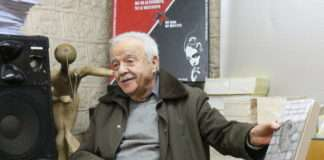 Maurice Rajsfus historien et militant contre les violences policières. Photographie : Droits réservé avec l'autorisation de Marc Plocki