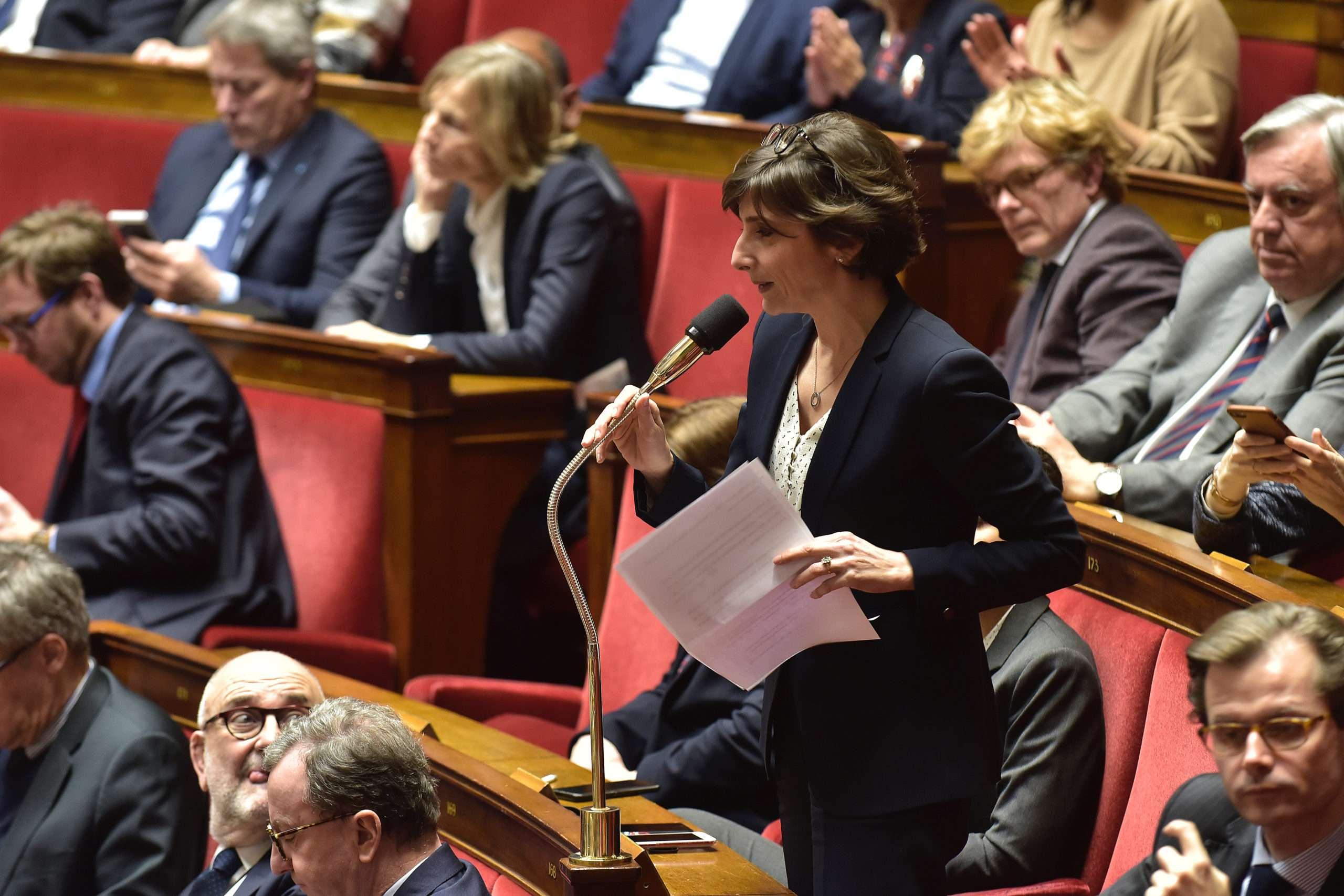 À partir de ce 27 juillet 2020, les députés, ici Nathalie Elimas membre du Modem, étudient le projet de la loi sur la Bioéthique en deuxième lecture. Photographie : creatives commons.