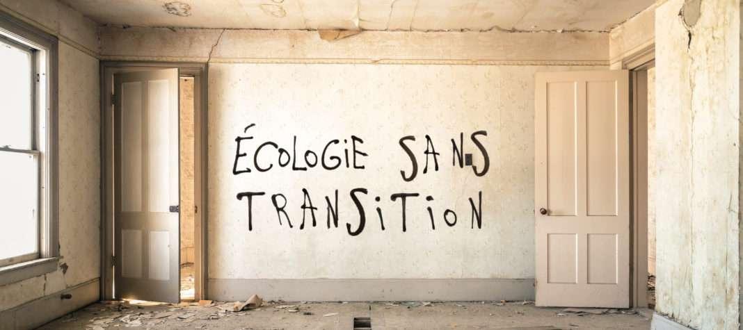 Ecologie sans transition tag graffiti Désobéissance ecolo paris