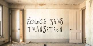 Ecologie sans transition tag graffiti Désobéissance ecolo paris