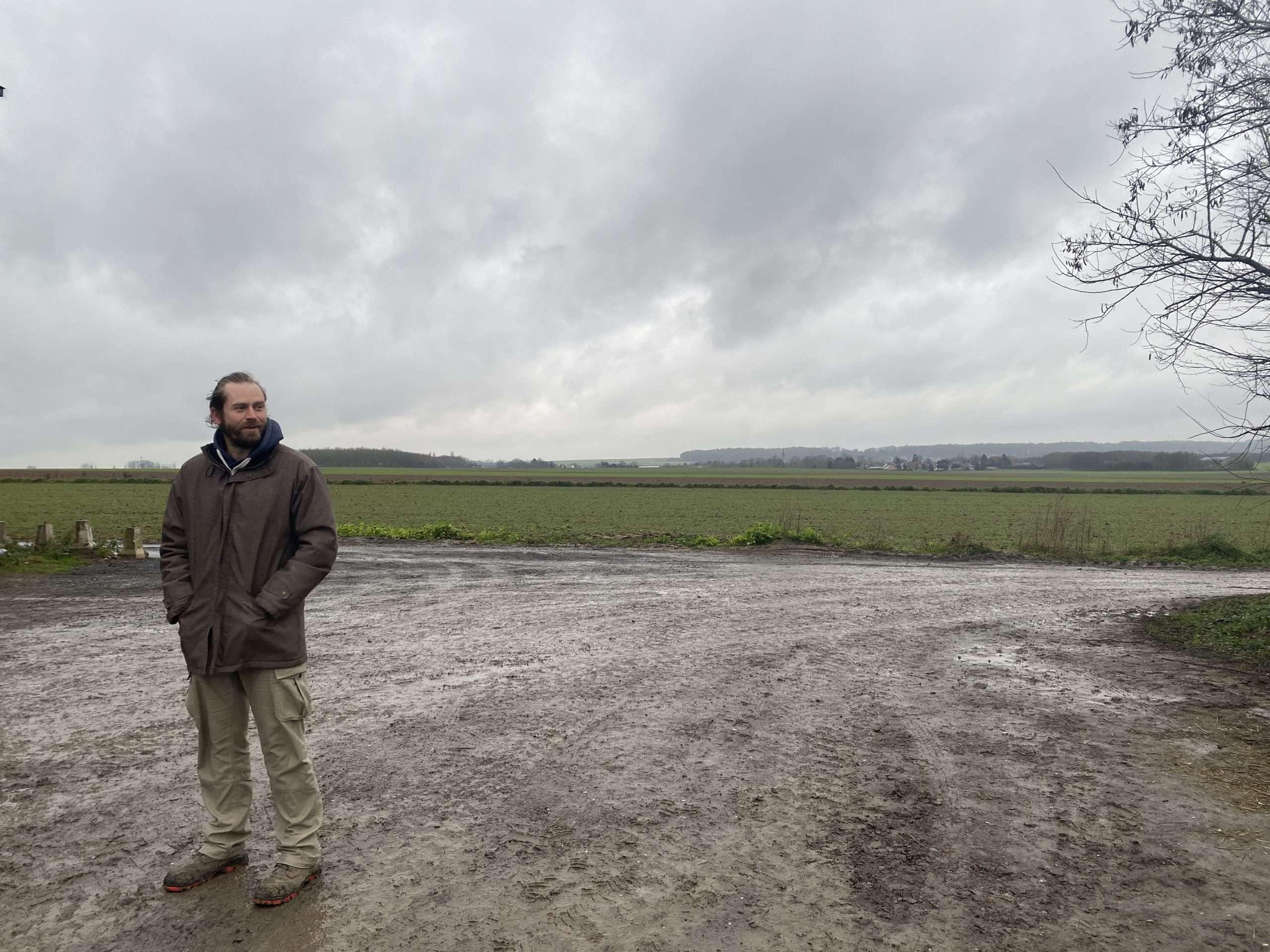 Stéphane Delmotte, agriculteur biologique dans le Pas-de-Calais.