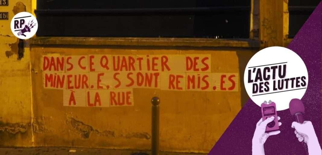 Collages pour les réfugiés à Paris, mars 2021.