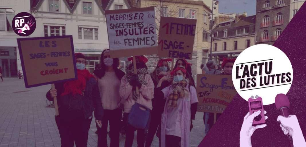 grève sages-femmes féministe 8 mars