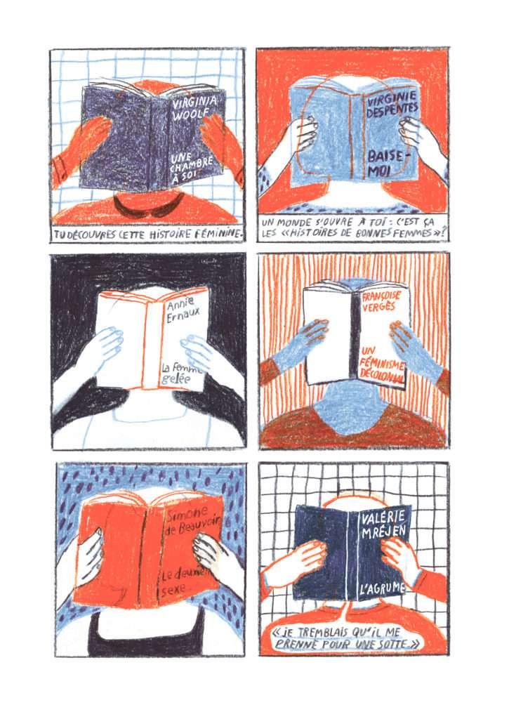 Pages BD Éveil de Juliette Mancini