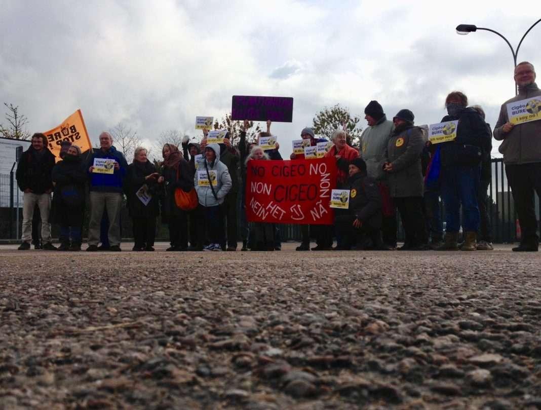 À Bure, visite de militants antinucléaires à Bure, le 5 novembre 2017