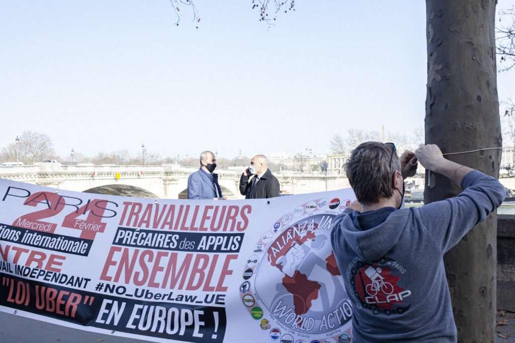 """24 Fevrier - Rassemblement livreurs et VTC auto-entrepreneurs pour une """"loi Uber"""""""